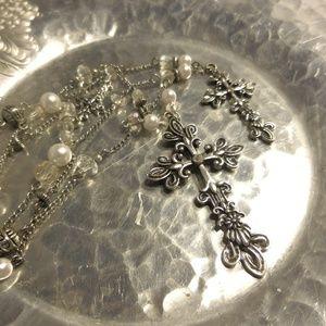 Jewelry - 3 Cross Long Necklace!